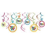 Boy Birthday Swirl Decorations 12ct