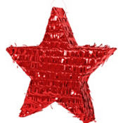 Foil Red Star Pinata