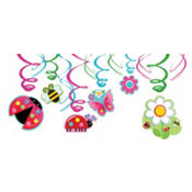 Garden Girl Swirl Decorations 12ct
