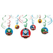 Thomas the Tank Engine Swirl Decorations 12ct