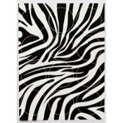 Zebra Sugar Cupcake Stickers 12ct