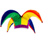 Rainbow Jester Hat