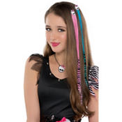 Pink and Blue Monster High Hair Extensions 2ct