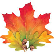 Festive Fall Leaves Cutout