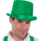 Velour Green Top Hat