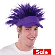 Purple Spikey Hair Visor