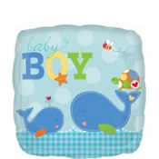 Foil Ahoy Baby Boy Balloon 18in
