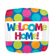 Foil Cabana Polka Dot Welcome Home Balloon 18in