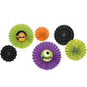 Boo Crew Paper Fan Decorations 6ct