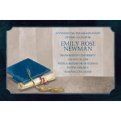 Framed Cap and Diploma Custom Graduation Announcement