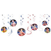 WWE Swirl Decorations 12ct