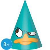 Phineas and Ferb Party Hats 8ct