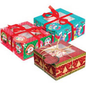 Christmas Cupcake Boxes 3pc