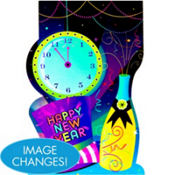 Lenticular New Years Sign 18in