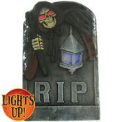 Light-Up Halloween Tombstone Decoration 26in