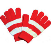 Red and White Gloves