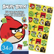 Angry Birds Valentines Day Cards with Stickers 34ct