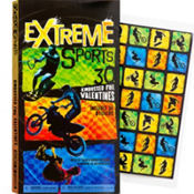 Extreme Sports Valentines Day Cards 32ct
