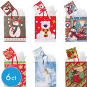 Small Holiday Gift Bags 5 1/2in 6ct