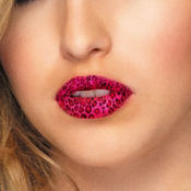 Pink Cheetah Lip Tattoos