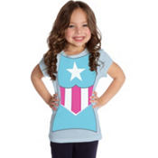 Girls Captain America T-Shirt
