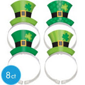 St. Patricks Day Paper Hat Headbands 8ct