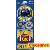 CAL Bears Prism Stickers