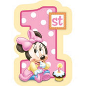 Minnie Mouse 1st Birthday Invitations 8ct