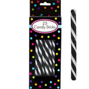 Black Candy Sticks 25pc