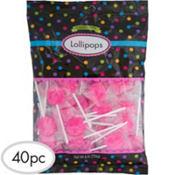 Bright Pink Lollipops 48pc