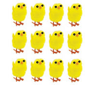 Small Chenille Easter Chicks 12ct