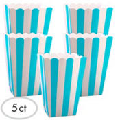 Caribbean Blue Popcorn Favor Boxes 5ct