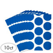 Royal Blue Dot Paper Favor Bags 10ct