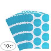 Caribbean Blue Dot Paper Favor Bags 10ct
