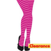 Adult Pink Striped Tights