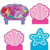 Little Mermaid Birthday Candles 4ct