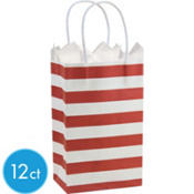 Red Stripe Mini Gift Bag 12ct