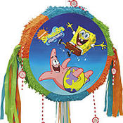 Pull String SpongeBob & Friends Pinata 19in