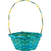 Round Blue Easter Basket