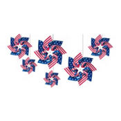 Hanging Flag Pinwheels 6ct