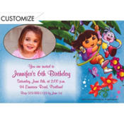 Dora the Explorer Custom Photo Invitation