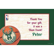 Milwaukee Bucks Custom Thank You Note