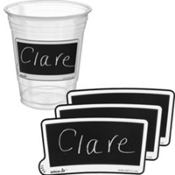 Etch-It Tags Rectangle Cup Labels 12ct