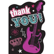 Rocker Princess Thank You Cards 8ct