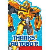 Bumblebee Transformers Thank You Notes 8ct