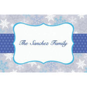 Stylish Snowflake Border Custom Thank You Note