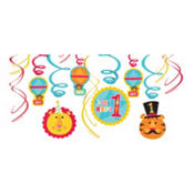 Fisher Price 1st Birthday Swirl Decorations 12ct