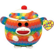 Sock Monkey Beanie Ball 5in