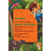 Diego's Biggest Rescue Custom Invitation