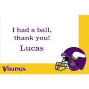 Minnesota Vikings Custom Thank You Note